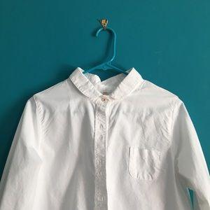 Austrian Peter Pan Collar Double-Button Shirt